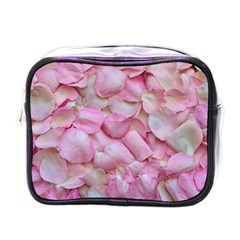 Romantic Pink Rose Petals Floral  Mini Toiletries Bags