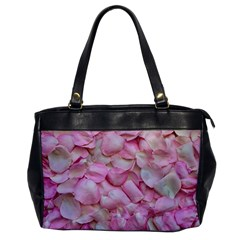 Romantic Pink Rose Petals Floral  Office Handbags