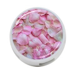 Romantic Pink Rose Petals Floral  4 Port Usb Hub (one Side)