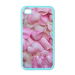 Romantic Pink Rose Petals Floral  Apple Iphone 4 Case (color) by yoursparklingshop