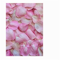 Romantic Pink Rose Petals Floral  Large Garden Flag (two Sides)