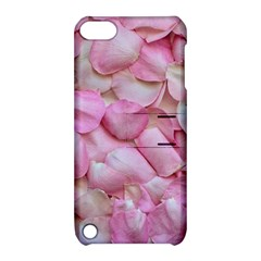 Romantic Pink Rose Petals Floral  Apple Ipod Touch 5 Hardshell Case With Stand