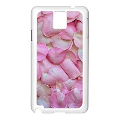 Romantic Pink Rose Petals Floral  Samsung Galaxy Note 3 N9005 Case (white)