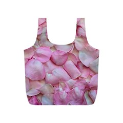Romantic Pink Rose Petals Floral  Full Print Recycle Bags (s)  by yoursparklingshop