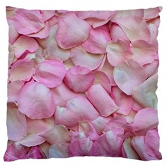 Romantic Pink Rose Petals Floral  Standard Flano Cushion Case (two Sides) by yoursparklingshop