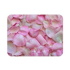Romantic Pink Rose Petals Floral  Double Sided Flano Blanket (mini)  by yoursparklingshop