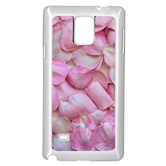 Romantic Pink Rose Petals Floral  Samsung Galaxy Note 4 Case (white)