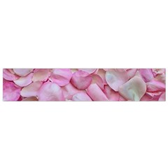 Romantic Pink Rose Petals Floral  Small Flano Scarf