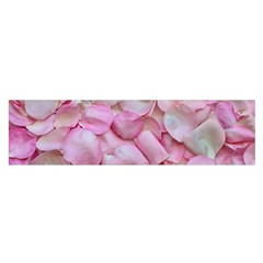 Romantic Pink Rose Petals Floral  Satin Scarf (oblong)