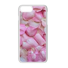 Romantic Pink Rose Petals Floral  Apple Iphone 7 Plus Seamless Case (white)