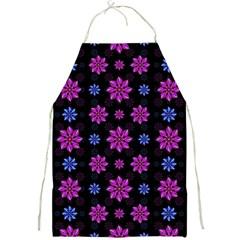 Stylized Dark Floral Pattern Full Print Aprons