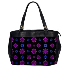 Stylized Dark Floral Pattern Office Handbags
