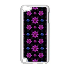 Stylized Dark Floral Pattern Apple Ipod Touch 5 Case (white)