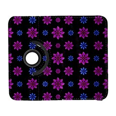 Stylized Dark Floral Pattern Galaxy S3 (flip/folio)