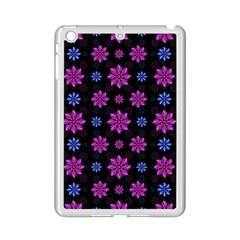 Stylized Dark Floral Pattern Ipad Mini 2 Enamel Coated Cases