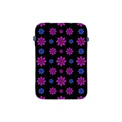 Stylized Dark Floral Pattern Apple Ipad Mini Protective Soft Cases