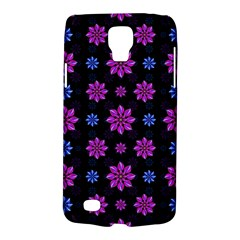 Stylized Dark Floral Pattern Galaxy S4 Active