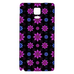 Stylized Dark Floral Pattern Galaxy Note 4 Back Case by dflcprints