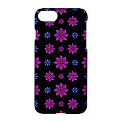 Stylized Dark Floral Pattern Apple Iphone 7 Hardshell Case by dflcprints