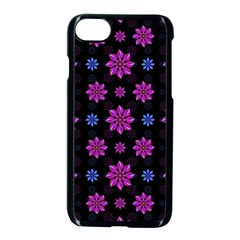 Stylized Dark Floral Pattern Apple Iphone 7 Seamless Case (black) by dflcprints