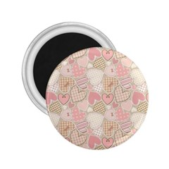 Cute Romantic Hearts Pattern 2 25  Magnets
