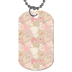 Cute Romantic Hearts Pattern Dog Tag (one Side) by yoursparklingshop