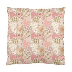 Cute Romantic Hearts Pattern Standard Cushion Case (two Sides) by yoursparklingshop