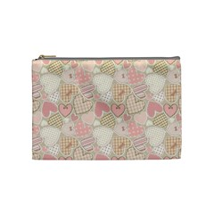 Cute Romantic Hearts Pattern Cosmetic Bag (medium)  by yoursparklingshop