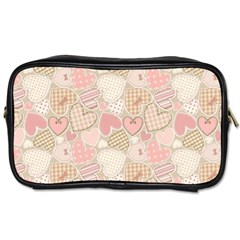 Cute Romantic Hearts Pattern Toiletries Bags 2 Side by yoursparklingshop