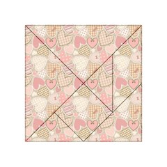 Cute Romantic Hearts Pattern Acrylic Tangram Puzzle (4  X 4 )