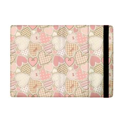 Cute Romantic Hearts Pattern Apple Ipad Mini Flip Case
