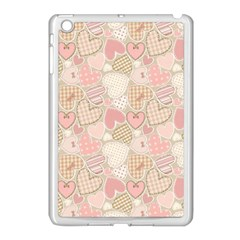Cute Romantic Hearts Pattern Apple Ipad Mini Case (white)