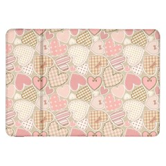 Cute Romantic Hearts Pattern Samsung Galaxy Tab 8 9  P7300 Flip Case