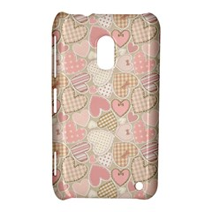 Cute Romantic Hearts Pattern Nokia Lumia 620