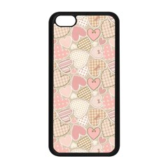 Cute Romantic Hearts Pattern Apple Iphone 5c Seamless Case (black)