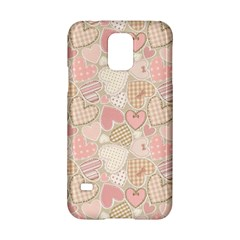 Cute Romantic Hearts Pattern Samsung Galaxy S5 Hardshell Case  by yoursparklingshop