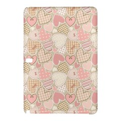 Cute Romantic Hearts Pattern Samsung Galaxy Tab Pro 12 2 Hardshell Case by yoursparklingshop