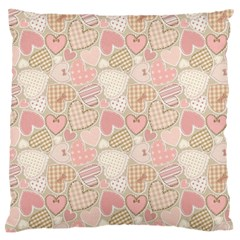 Cute Romantic Hearts Pattern Standard Flano Cushion Case (two Sides)