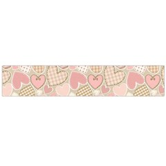 Cute Romantic Hearts Pattern Large Flano Scarf  by yoursparklingshop