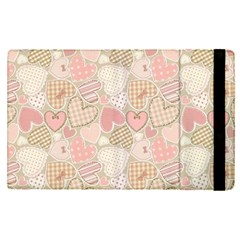 Cute Romantic Hearts Pattern Apple Ipad Pro 12 9   Flip Case