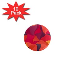 Red Orange Yellow Pink Art 1  Mini Magnet (10 Pack)