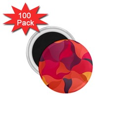 Red Orange Yellow Pink Art 1 75  Magnets (100 Pack)
