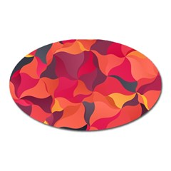 Red Orange Yellow Pink Art Oval Magnet
