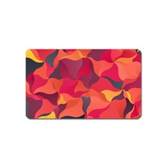Red Orange Yellow Pink Art Magnet (name Card)