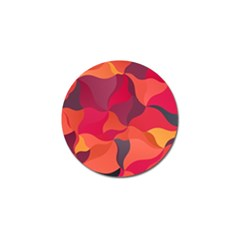 Red Orange Yellow Pink Art Golf Ball Marker (10 Pack)