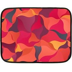Red Orange Yellow Pink Art Double Sided Fleece Blanket (mini)