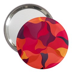 Red Orange Yellow Pink Art 3  Handbag Mirrors