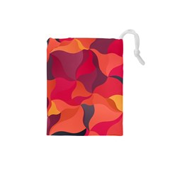 Red Orange Yellow Pink Art Drawstring Pouches (small)