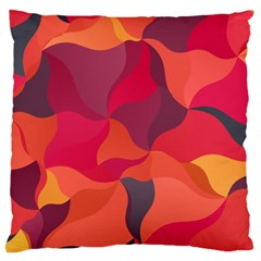 Red Orange Yellow Pink Art Large Flano Cushion Case (one Side)