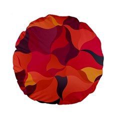 Red Orange Yellow Pink Art Standard 15  Premium Flano Round Cushions by yoursparklingshop